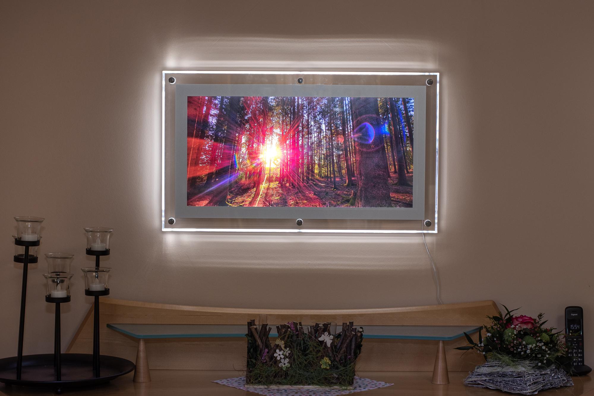 LED-Leuchtbilderrahmen Acryl - Motiv Nr. 101