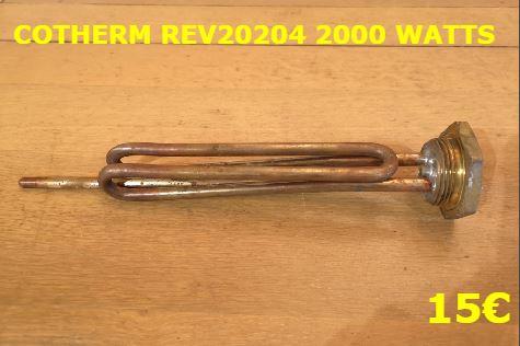 RÉSISTANCE CHAUFFE-EAU : COTHERM REV20204 2000 WATTS
