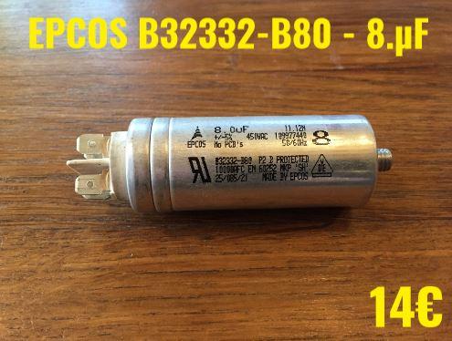 CONDENSATEUR MOTEUR : EPCOS B32332-B80 - 8.µF