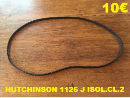 COURROIE LAVE-LINGE  : HUTCHINSON 1126 J ISOL.CL.2