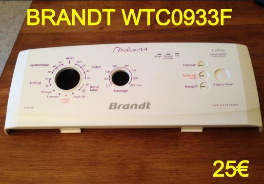 BANDEAU-LAVE-LINGE : BRANDT WTC0933F