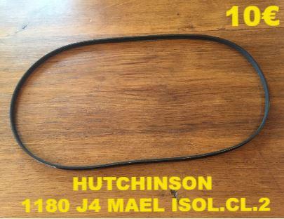 COURROIE LAVE-LINGE  : HUTCHINSON 1180 J4 MAEL ISOL.CL.2