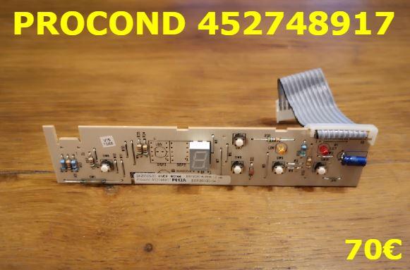 CARTE DE COMMANDE FRIGO : PROCOND 452748917