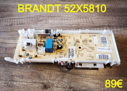 CARTE DE COMMANDE LAVE-LINGE : BRANDT 52X5810