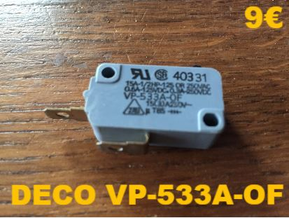 MICRO-SWITCH : DECO VP-533A-OF