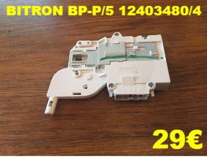VERROU DE PORTE LAVE-LINGE : BITRON BP-P/5 12403480/4