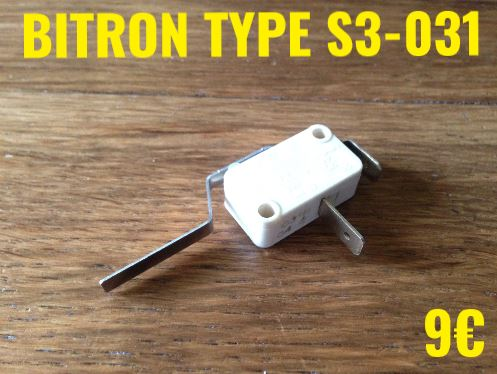 MICRO-SWITCH : BITRON TYPE S3-031 2 COSSES