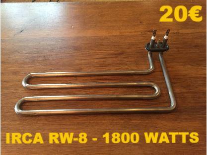 RÉSISTANCE LAVE-VAISSELLE : IRCA RW-8 - 1800 WATTS