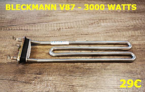 RÉSISTANCE LAVE-LINGE : BLECKMANN V87 - 3000 WATTS