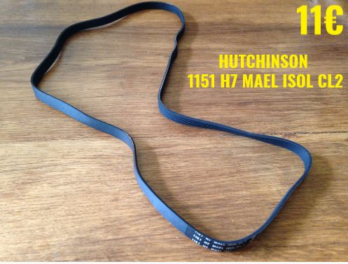 COURROIE LAVE-LINGE : HUTCHINSON 1151 H7 MAEL ISOL CL2