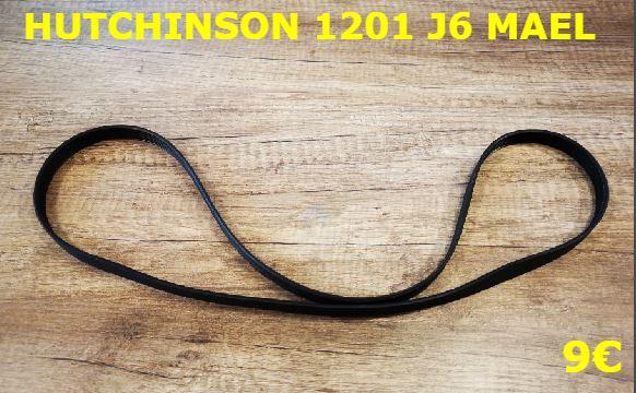 COURROIE LAVE-LINGE : HUTCHINSON 1201 J6 MAEL