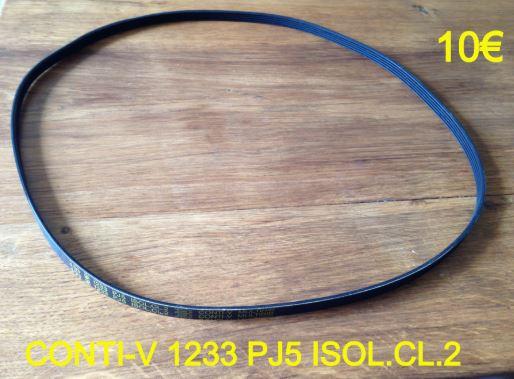 COURROIE LAVE-LINGE : CONTI-V 1233 PJ5 ISOL.CL.2