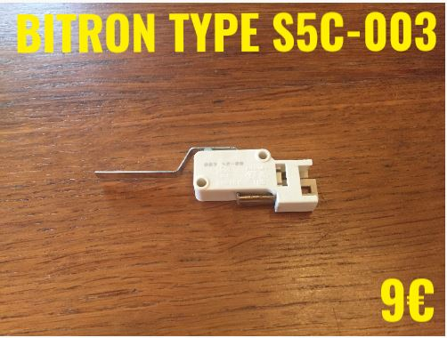 MICRO-SWITCH : BITRON TYPE S5C-003 2 COSSES