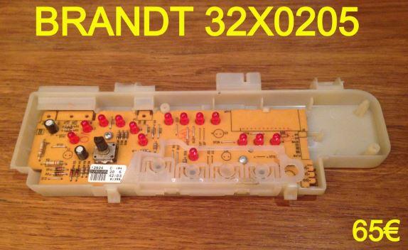 CARTE DE COMMANDE LAVE-VAISSELLE : BRANDT 32X0205
