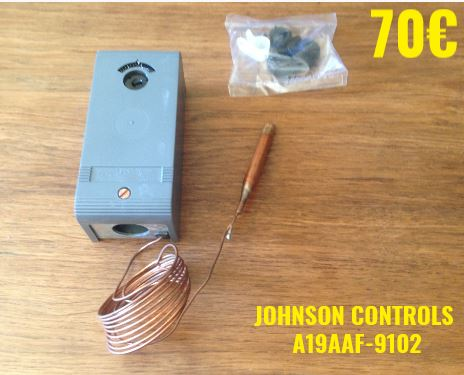 THERMOSTAT FRIGO : JOHNSON CONTROLS A19AAF-9102