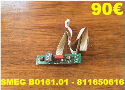 CARTE DE COMMANDE LAVE-VAISSELLE : SMEG B0161.01 - 811650616