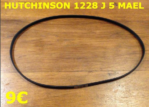 1228 J5 MAEL courroie HUTCHINSON pour lave linge