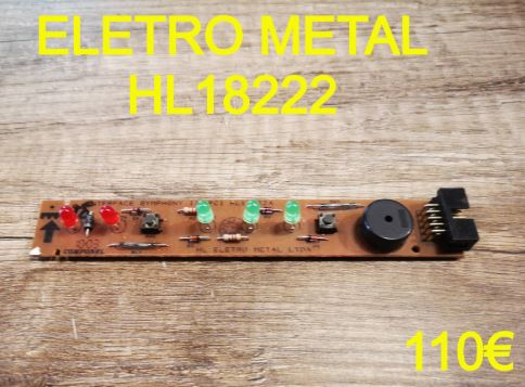 CARTE DE COMMANDE FRIGO : ELETRO METAL HL18222