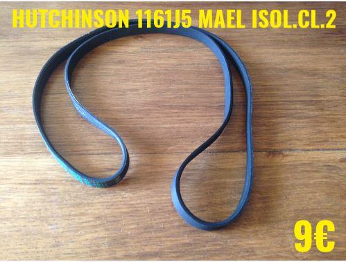 COURROIE LAVE-LINGE  : HUTCHINSON 1161J5 MAEL ISOL.CL.2
