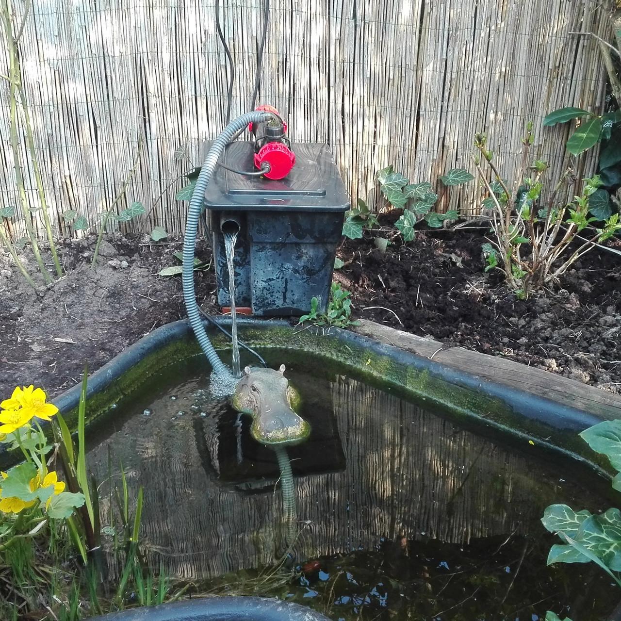 Gartenteich Filter ohne Abdeckung