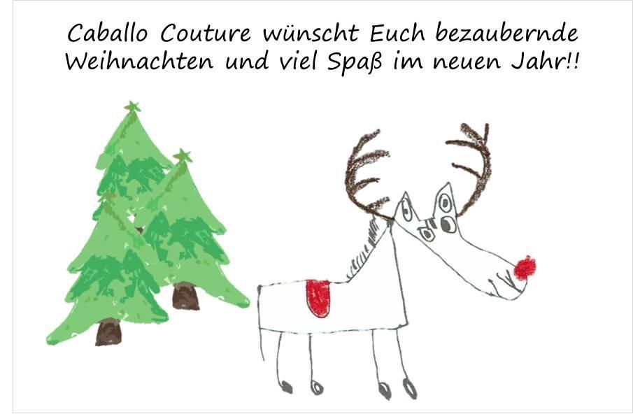 Frohe Weihnachten, Caballo Couture, Pferd, Weihnachtsbaum