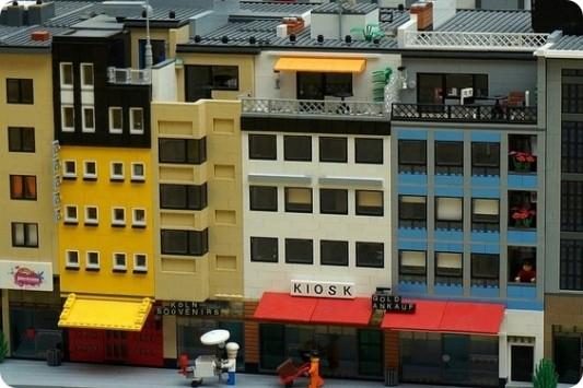 Das Penthouse von Domapartment als LEGO-Modell im Maßstab 1:48