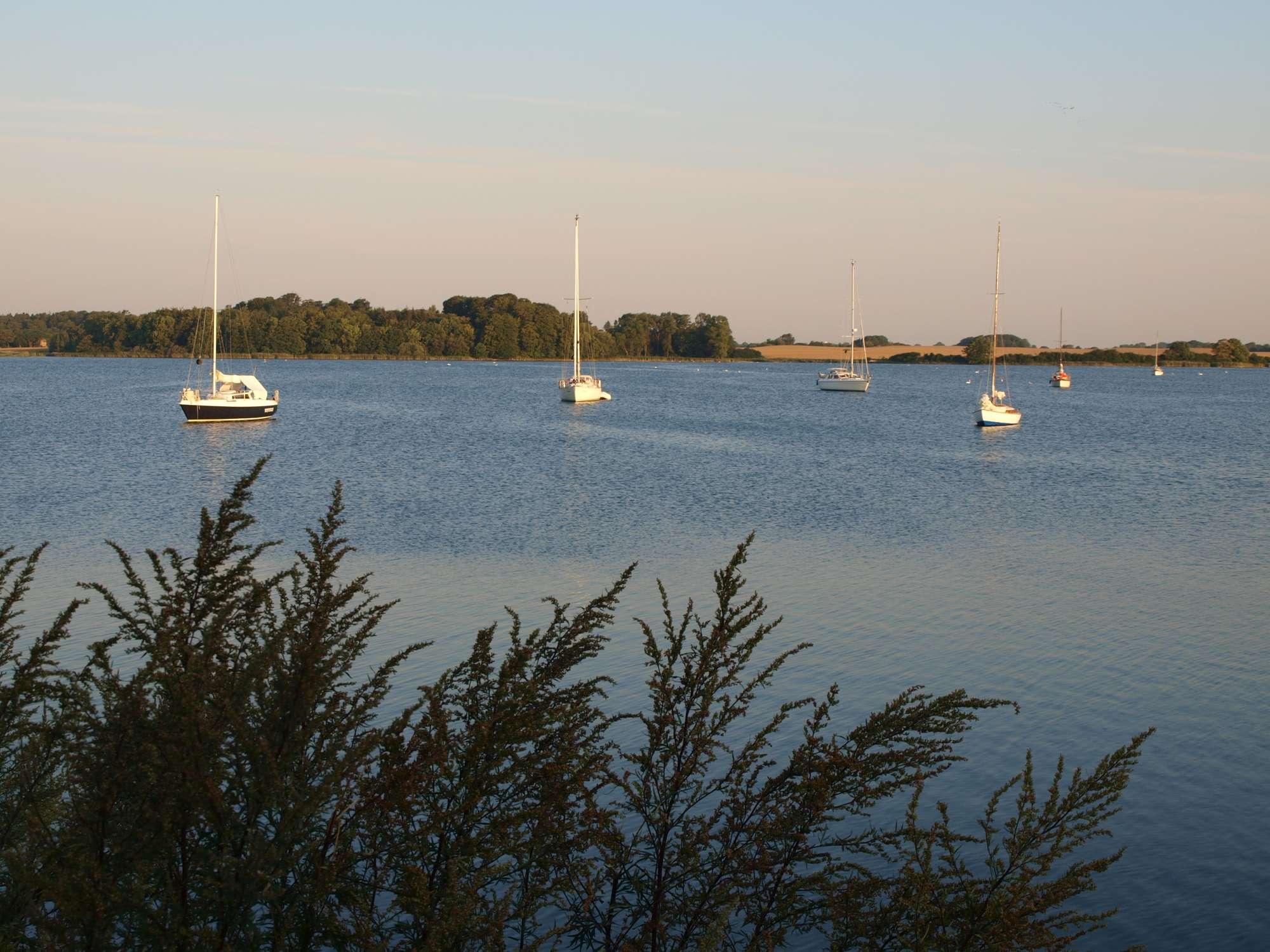 Urlaub an Ostsee und Schlei - Ankern im Noor bei Arnis
