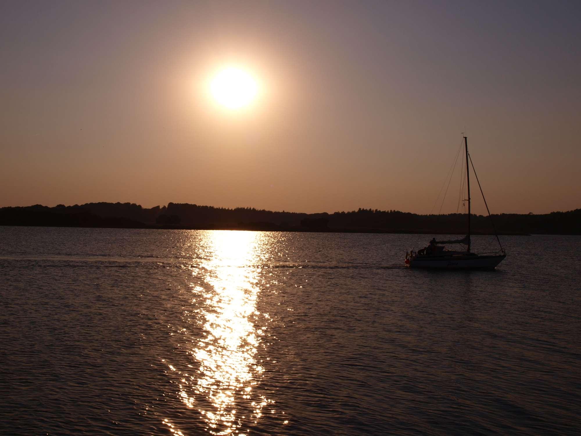 Urlaub an Ostsee und Schlei - Abenddämmerung an der Schlei