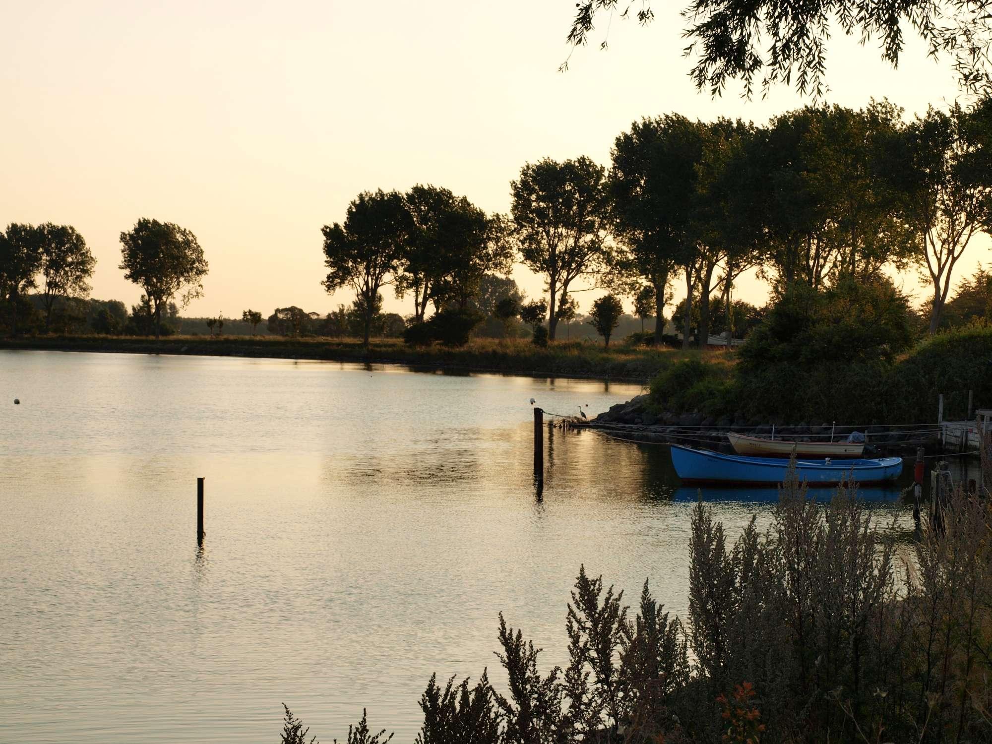Urlaub an Ostsee und Schlei - Abend am Wormhöfter Noor
