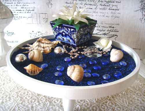 Keramik in Blau