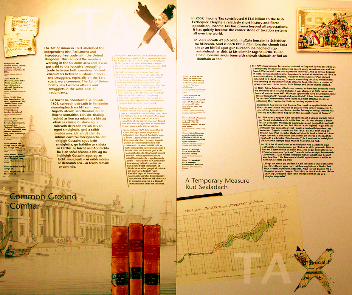 A storyboard from the revenue Museum.