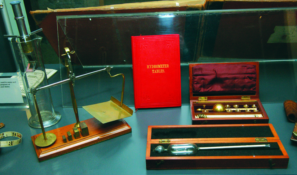Measuring instruments used by Customs officers.