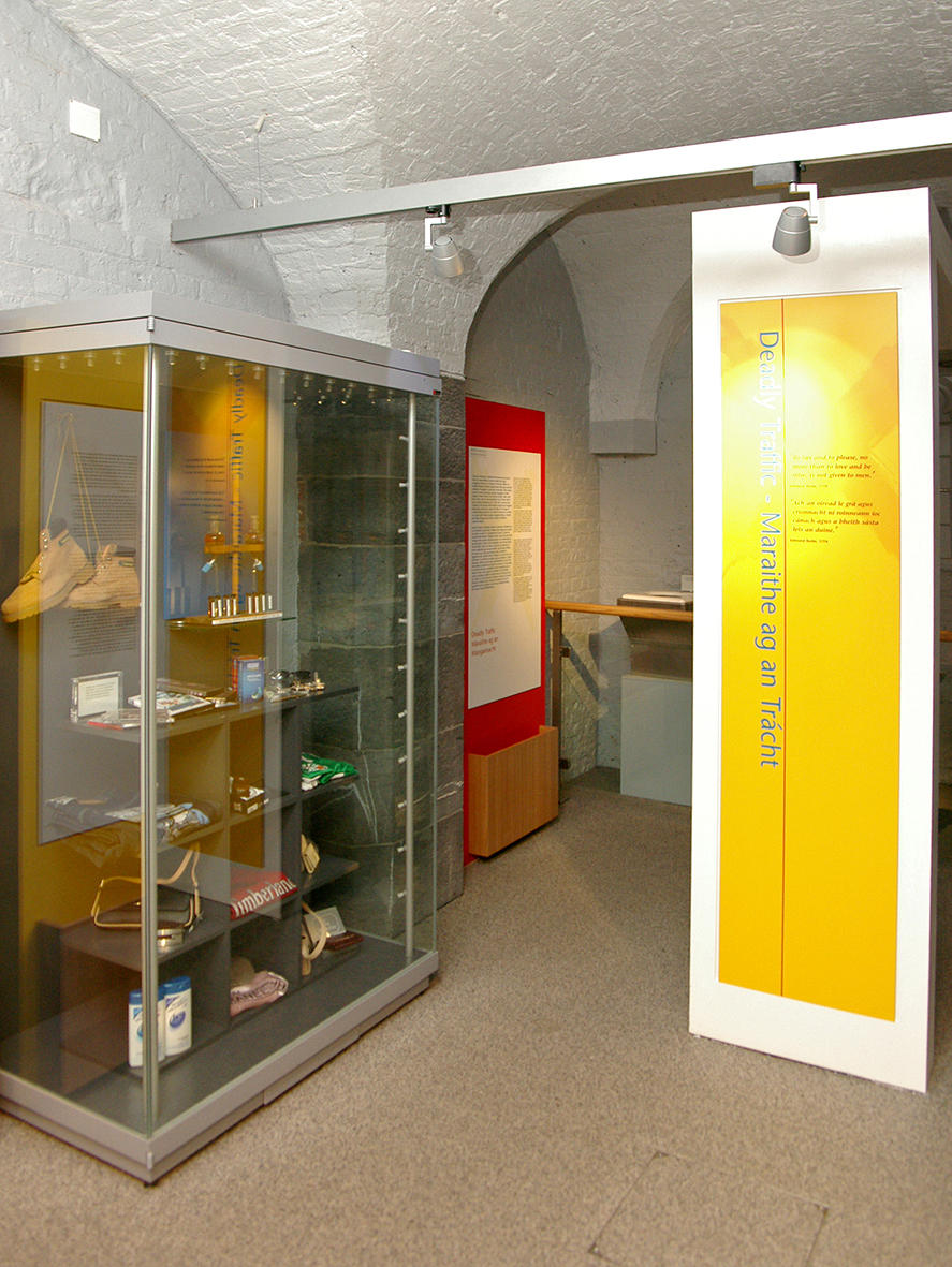 A view of the counterfeit goods cabinet.