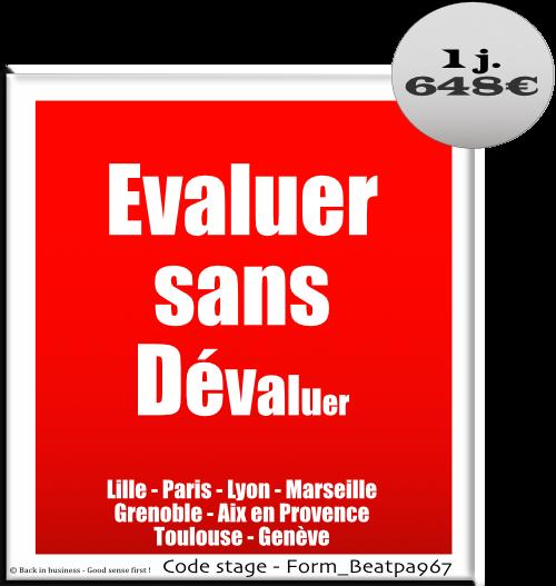 Evaluer sans dévaluer - Management - Entretien d'évaluation - Entretien professionnel - Formation professionnelle Inter / intra entreprise - Back in business - Good sense first !.