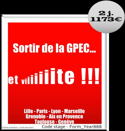 Sortir de la GPEC et vite ! - Ressource Planning - Emploi - gestion prévisionnelle des emplois et des compétences - dialogue social - irp - Formation professionnelle Inter / intra entreprise - Back in business - Good sense first !