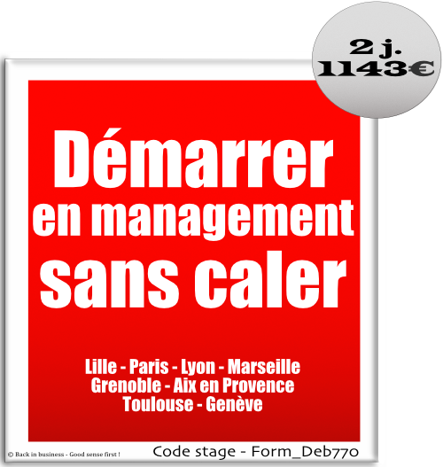 démarrer en management sans caler, maîtriser les bases du management hiérarchique opérationnel, formation professionnelle inter / intra entreprise, Back in business - Good sense first !.
