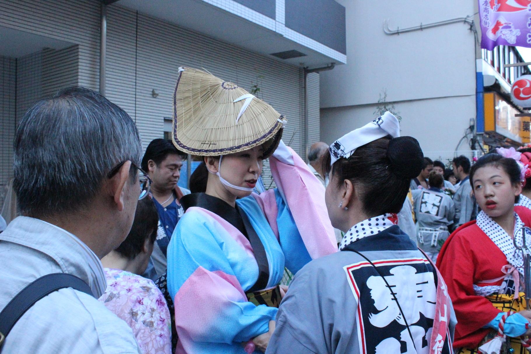 Traditionelle Awa-Odori-Tracht von der Insel Shikoku
