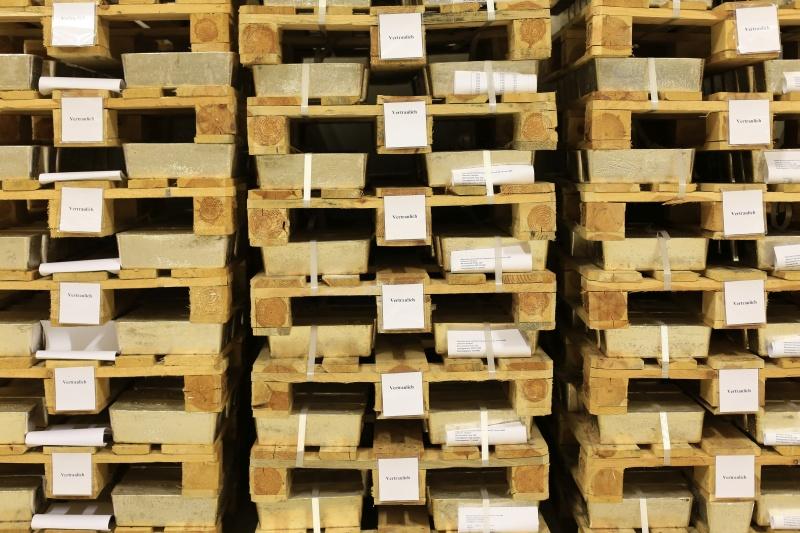 Goldbarren, sicher gelagert in der Schweiz