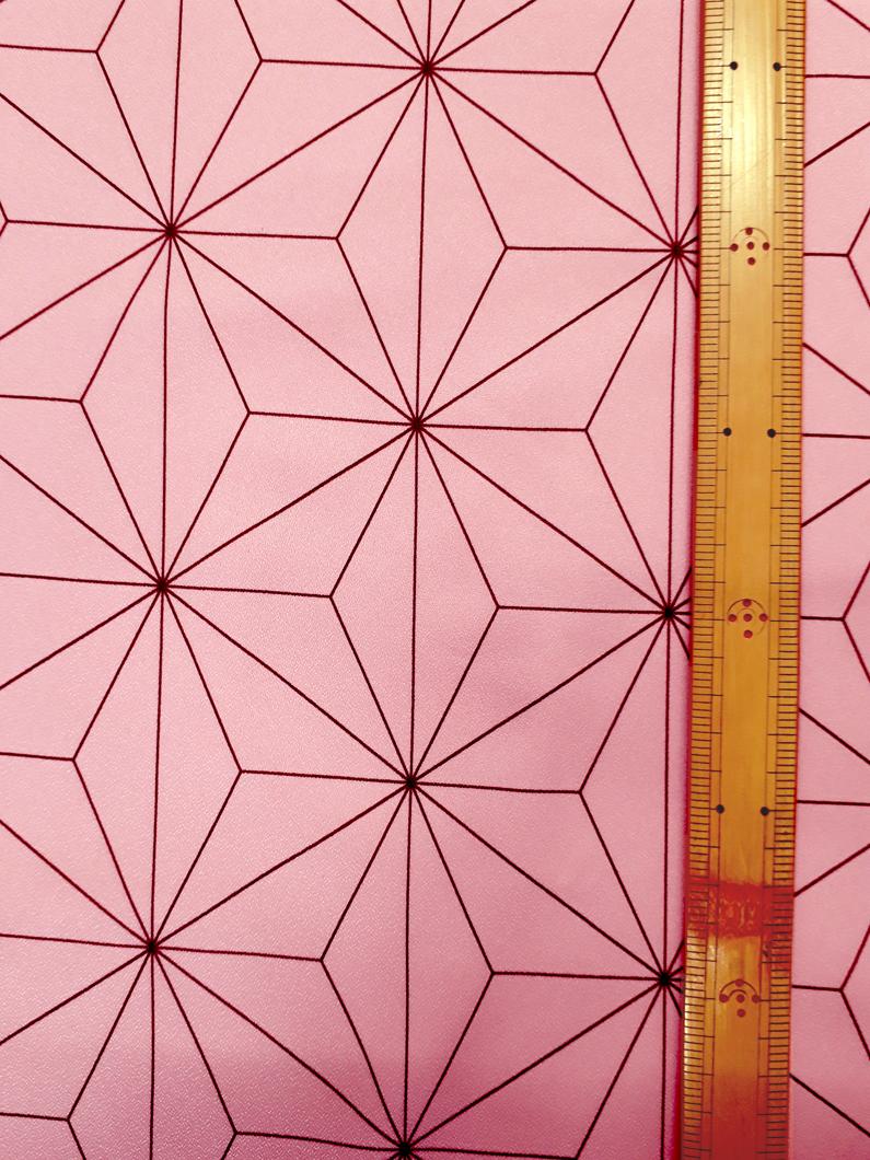 六角形サイズ:約19.6㎝×約13.8㎝