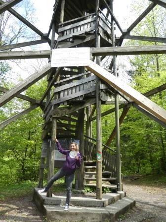 Der Teller kommt hoch hinaus auf den Aussichtsturm Albis-Hochwacht. :)