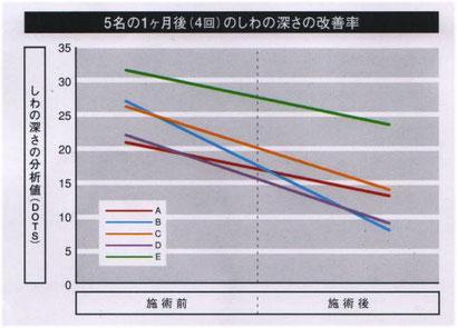 しわの改善結果データの画像