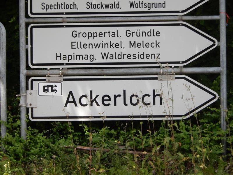 Mit dem Rad zum zweiten Stellplatz in Unterkirnach