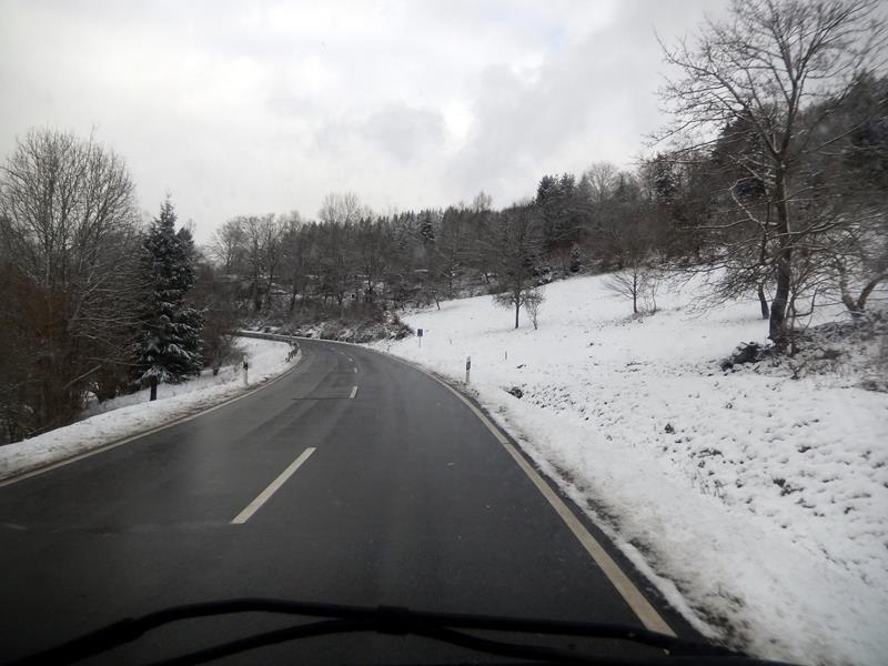 Unterwegs nach Bad Soden - der erste Schnee