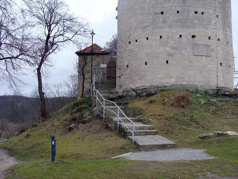 Wir sind an der Burg Saaleck angekommen