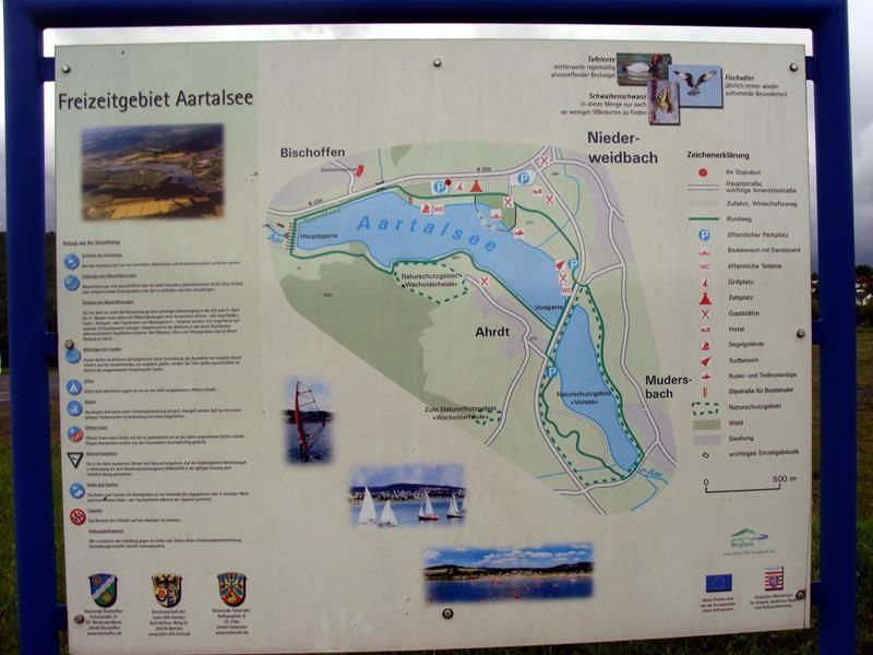 Eine Karte vom See. Der ist ganz schön groß.