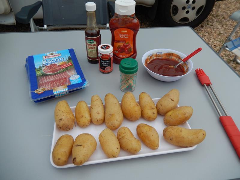 die Kartoffeln wurden gekocht