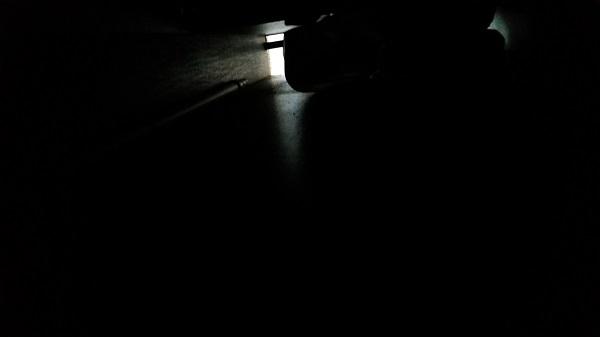 ein Dunkelbild aus der Sicht der Garage
