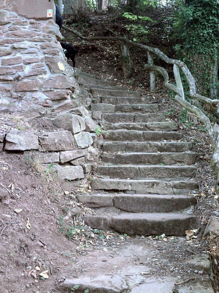 Und wieder Treppen......mei oh mei....