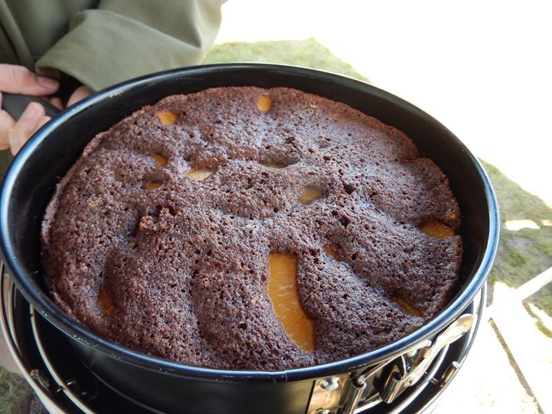 nach etwas über einer Stunde sieht der Kuchen sehr Schmackhaft aus