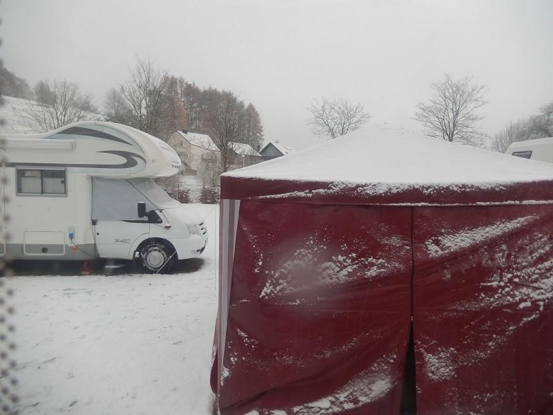 Schnee haben wir auch bekommen im Spessart